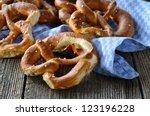 fresh bavarian pretzels | Shutterstock . vector #123196228