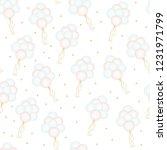 happy birthday hand drawn cute... | Shutterstock .eps vector #1231971799
