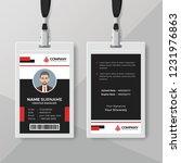 black identity card template... | Shutterstock .eps vector #1231976863