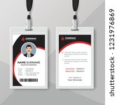 stylish id card design template ... | Shutterstock .eps vector #1231976869