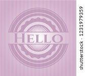 hello pink emblem. retro | Shutterstock .eps vector #1231979359