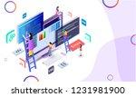miniature web developer...   Shutterstock .eps vector #1231981900