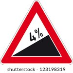 traffic sign rising mountain | Shutterstock .eps vector #123198319