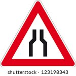 traffic sign narrow street | Shutterstock .eps vector #123198343