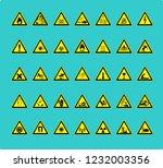 illustration of warning sticker | Shutterstock . vector #1232003356