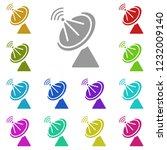 satellite dish icon in multi...