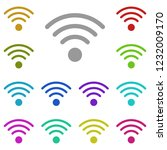 wi fi icon in multi color....