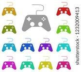 games icon in multi color....
