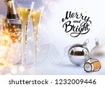 art christmas or new year's... | Shutterstock . vector #1232009446