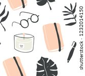 cute vector seamless pattern of ... | Shutterstock .eps vector #1232014150