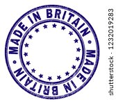 made in britain stamp seal... | Shutterstock .eps vector #1232019283