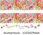 vivid floral colorful seamless... | Shutterstock .eps vector #1232029666