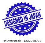 designed in japan stamp seal... | Shutterstock .eps vector #1232040733
