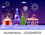christmas and new years holiday ... | Shutterstock .eps vector #1232048533