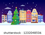christmas and new years holiday ... | Shutterstock .eps vector #1232048536