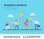 money growth. investment... | Shutterstock .eps vector #1232049940