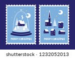 set of postage stamps dedicated ... | Shutterstock .eps vector #1232052013