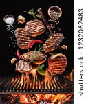 grilled beef steaks with...   Shutterstock . vector #1232062483