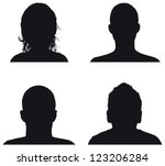 people profile silhouettes | Shutterstock vector #123206284