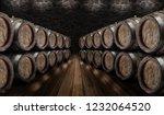 Oak Wine Barrels Wine Cellar - Fine Art prints