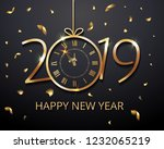 happy new year 2019   new year... | Shutterstock .eps vector #1232065219