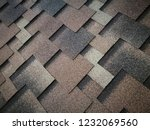 roof covered by hexagonal soft... | Shutterstock . vector #1232069560