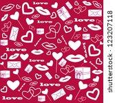 illustration of heart of gift... | Shutterstock .eps vector #123207118