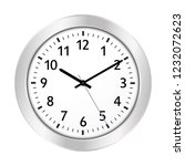 clock icon with silver border... | Shutterstock .eps vector #1232072623