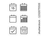 the calendar items | Shutterstock .eps vector #1232075533