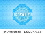 unnatural light blue water wave ... | Shutterstock .eps vector #1232077186