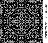 vector seamless white and black ... | Shutterstock .eps vector #123208030