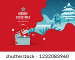 merry christmas  happy new year ... | Shutterstock .eps vector #1232083960