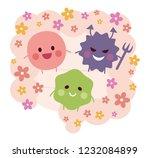 intestinal flora   good...   Shutterstock .eps vector #1232084899