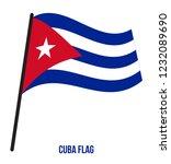 cuba flag waving vector... | Shutterstock .eps vector #1232089690