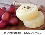 german harzer cheese and grapes | Shutterstock . vector #1232097430