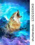 Modern Oil Painting Of Wolf ...