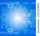 drawing of mechanisms of the... | Shutterstock .eps vector #1232103823