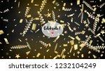 modern new year confetti... | Shutterstock .eps vector #1232104249