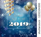 2019 new year  christmas vector ... | Shutterstock .eps vector #1232104300
