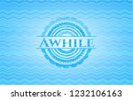 awhile sky blue water wave... | Shutterstock .eps vector #1232106163