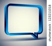 3d rectangular rounded empty... | Shutterstock .eps vector #123211018