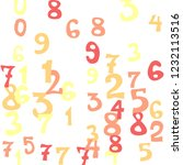 falling colorful numbers on... | Shutterstock .eps vector #1232113516