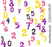 falling colorful numbers on... | Shutterstock .eps vector #1232113519