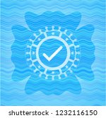 tick icon inside water concept... | Shutterstock .eps vector #1232116150