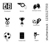 sport cup icons set. simple set ... | Shutterstock .eps vector #1232127553