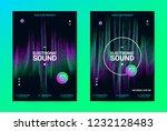 techno music poster. wave flyer ... | Shutterstock .eps vector #1232128483