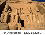 the temple at abu simbel  ... | Shutterstock . vector #1232133250
