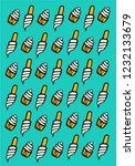 cupcakes and ice cream pattern... | Shutterstock .eps vector #1232133679