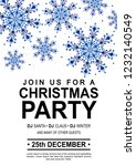 christmas party poster | Shutterstock . vector #1232140549
