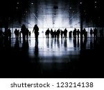 business people walking down... | Shutterstock . vector #123214138